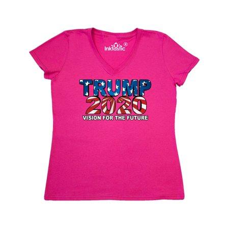 326a14cd9 Inktastic - Trump 2020 Women's V-Neck T-Shirt - Walmart.com