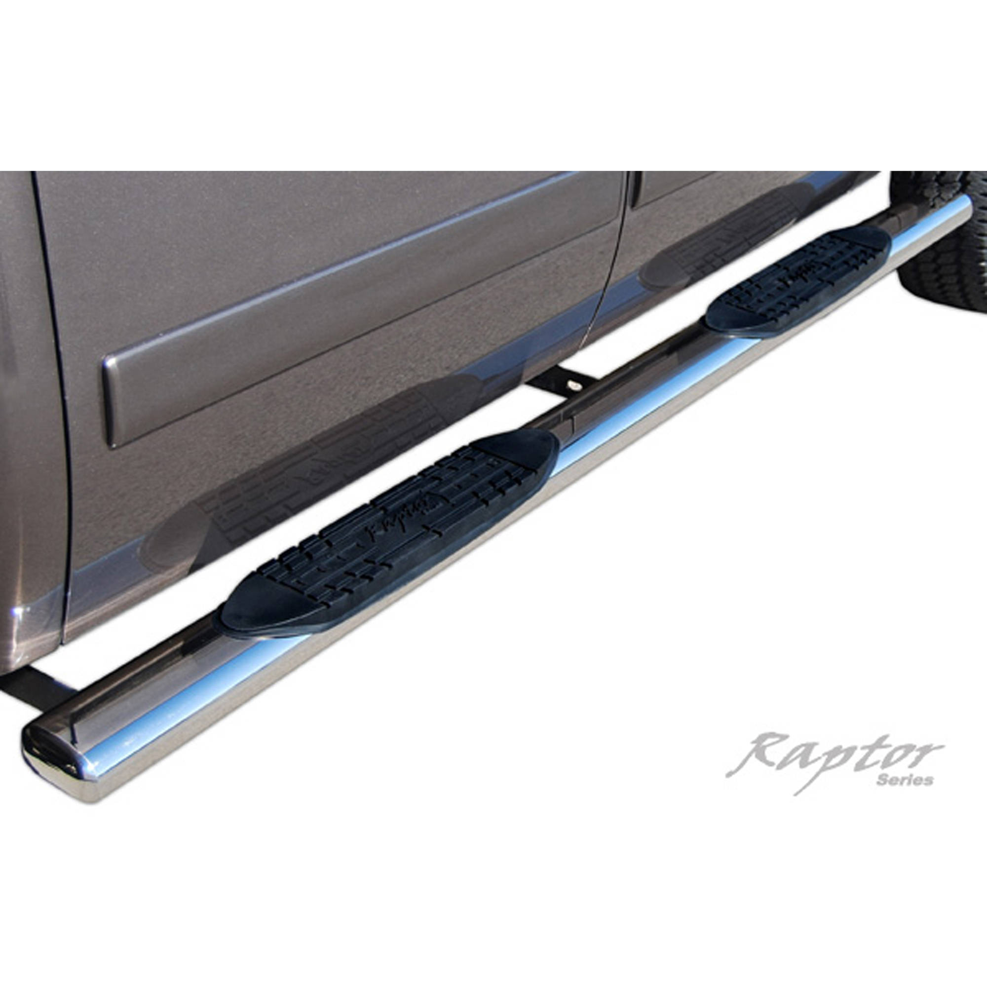 "Raptor Series 07-15 Toyota Tundra Double Cab 5"" Oval Steps, Stainless Steel"