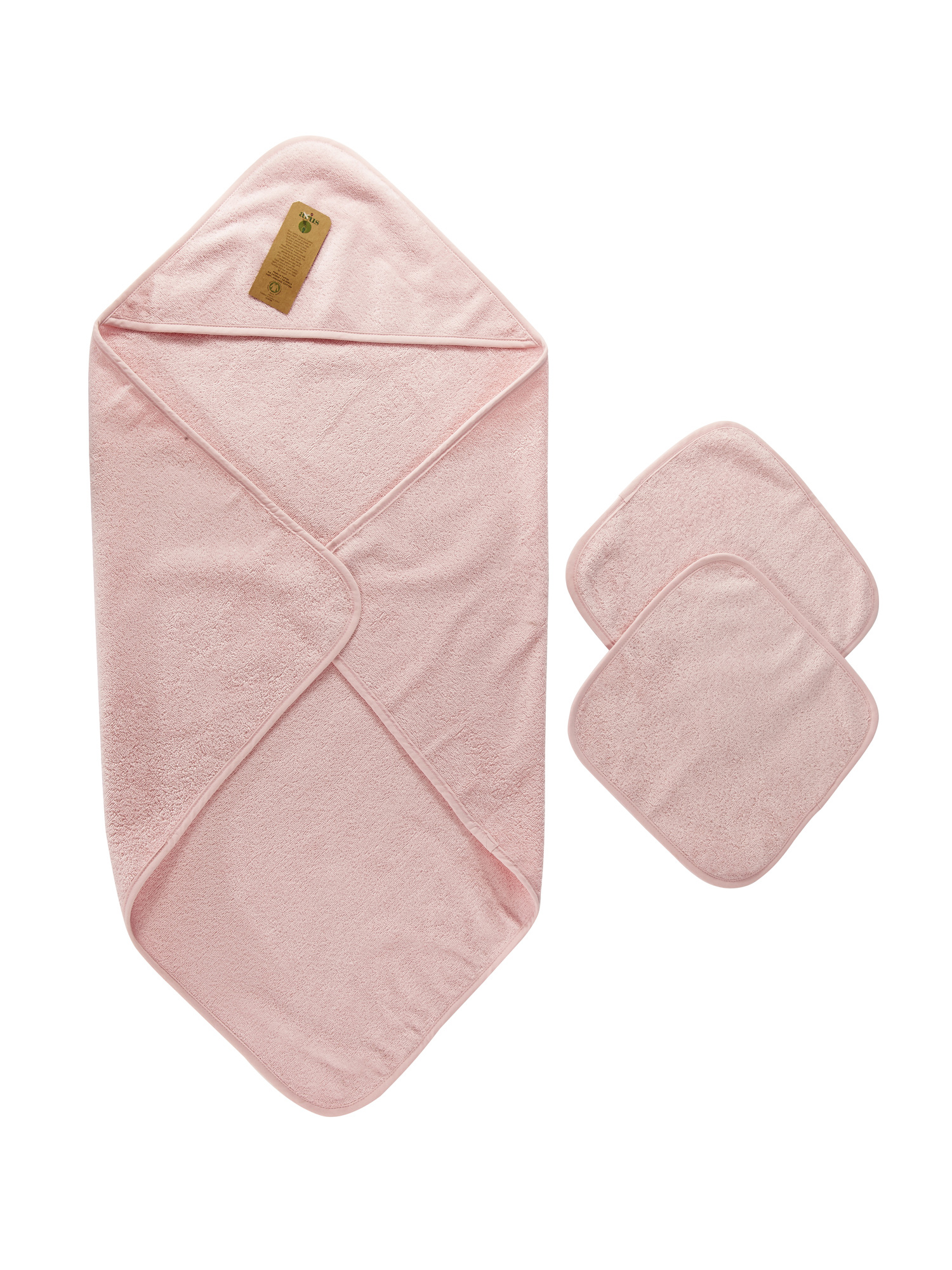 Baby Organic Turkish Cotton Hooded Towel and Washcloth Set by Panarus
