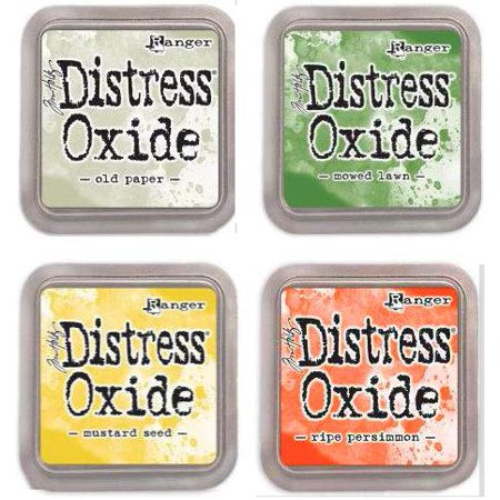 - Tim Holtz Ranger Distress Oxide Ink Bundle G - Four 3