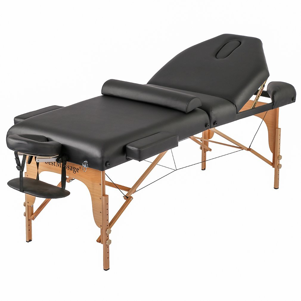 "Professiona 4"" Pad Portable Reiki Portable Massage Table W/ 77"" Long Solid Bedframe"