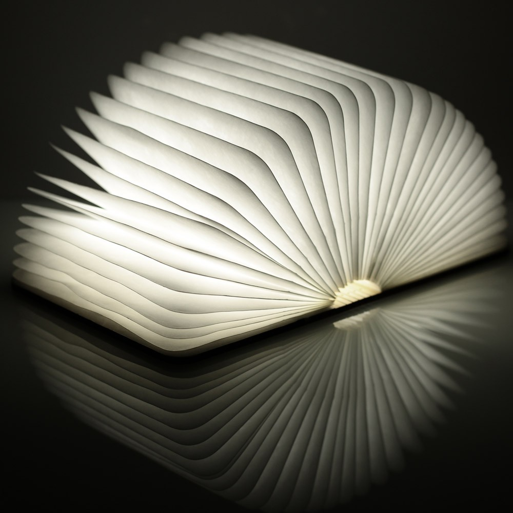 Novelty Folding Books Night light USB Rechargeable LED Folding Book Lamp ,Creative Fashion Gift Book Table Lamp ,Wood... by Icicle