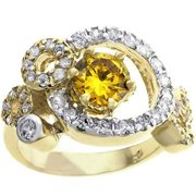 Sunrise Wholesale J3262 06 14k Gold and White Gold Rhodium Fashion Ring