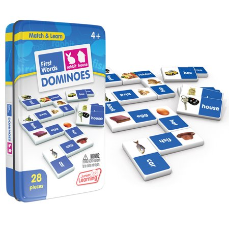 Junior Learning - First Words Dominoes Match & Learn Educational Learning Game - Sight Words Game