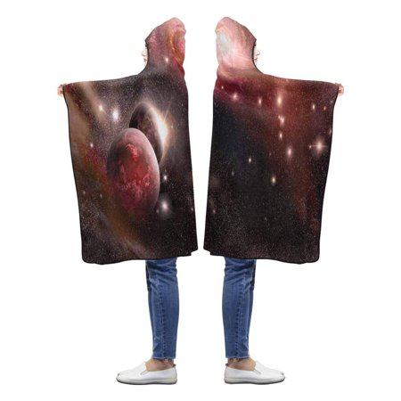 HATIART Planets Nebula Galaxy Hooded Throw Blanket 40x50 inches Toddler Kid Baby Boys Girls Wearable Blankets - image 2 of 2