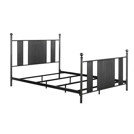 DHP Athena Metal Bed Frame with Headboard and Footboard, Queen Size ...