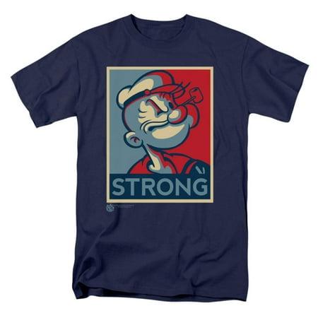 Popeye T-shirt Tee - Popeye Men's  Strong T-shirt Navy