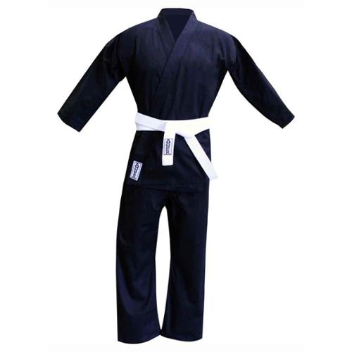 Karate Uniform in Black Cotton & Polyester Blend (4 (Medium))