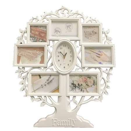 Creative Motion Family Tree Photo Frames and a Clock(5 4