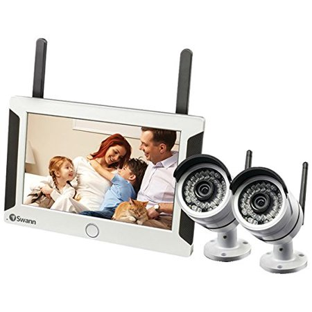 Swann Swnvw-470pk2-us All-in-one Swannsecure Wi-fi Hd Monitoring System  With Monitor & 2 Cameras