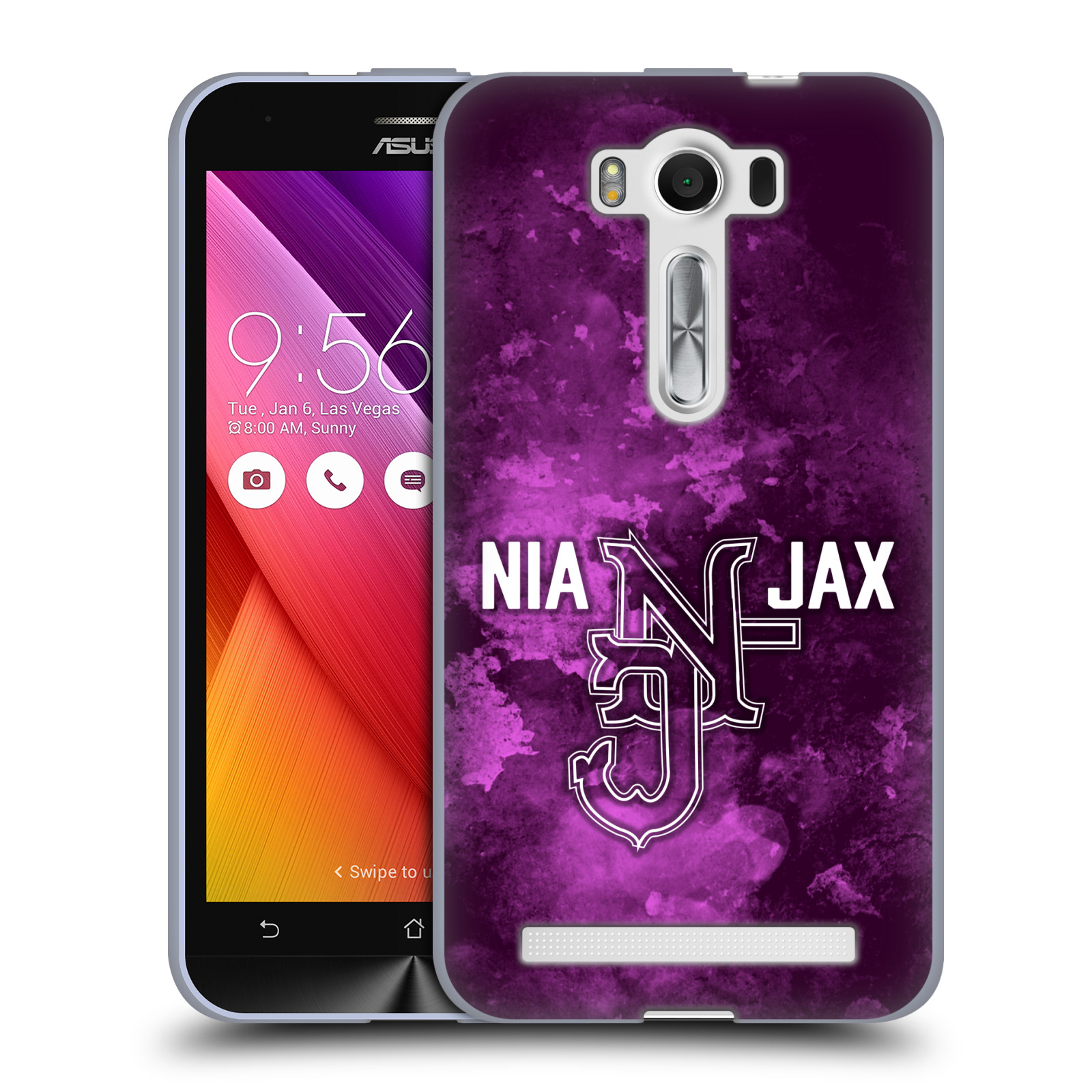 OFFICIAL WWE NIA JAX SOFT GEL CASE FOR ASUS ZENFONE PHONES