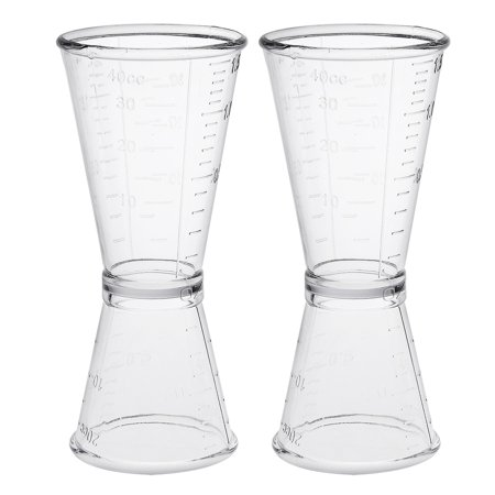 2 Pcs Double Clear Plastic Shot Glasses Drink Spirit Measure Cup](Shot Drinks For Halloween)