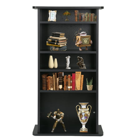 Zeny Multimedia Cabinet CD/ DVD Media Storage Cabinet Shelf Organizer Stand, 7