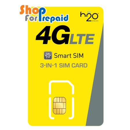 H2O Wireless 3 in 1 Universal Size Sim card ( MNVO of AT&T