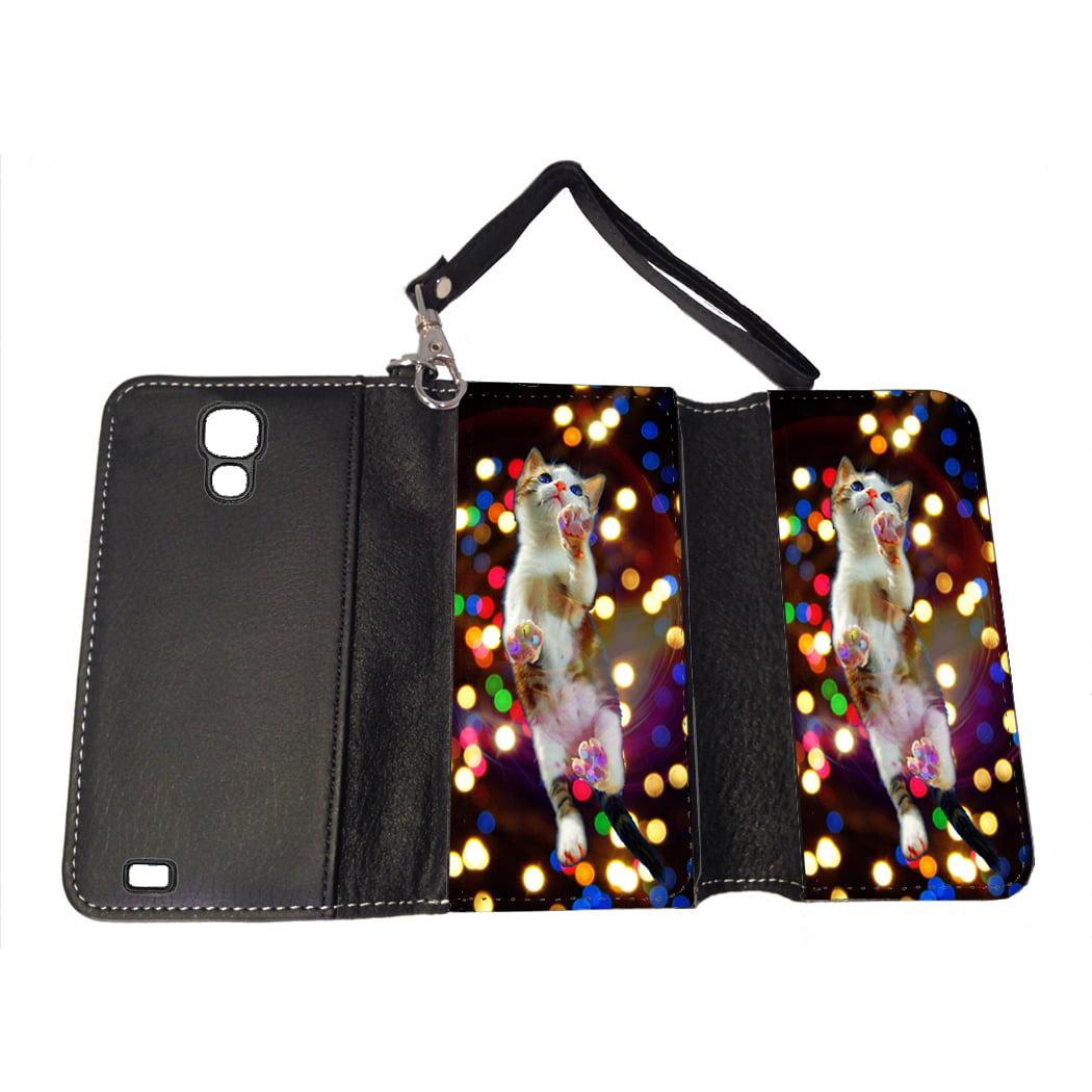 KuzmarK Samsung Galaxy S4 Wallet Handbag Case - Cat Painting