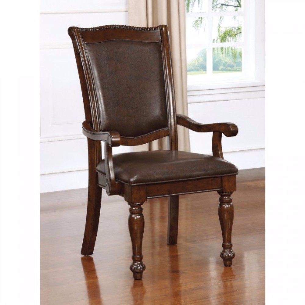 Alpena Traditional Arm Chair, Brown Cherry, Set Of 2
