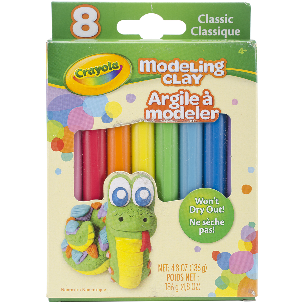 Crayola Modeling Clay .6oz 8/Pkg-Basic