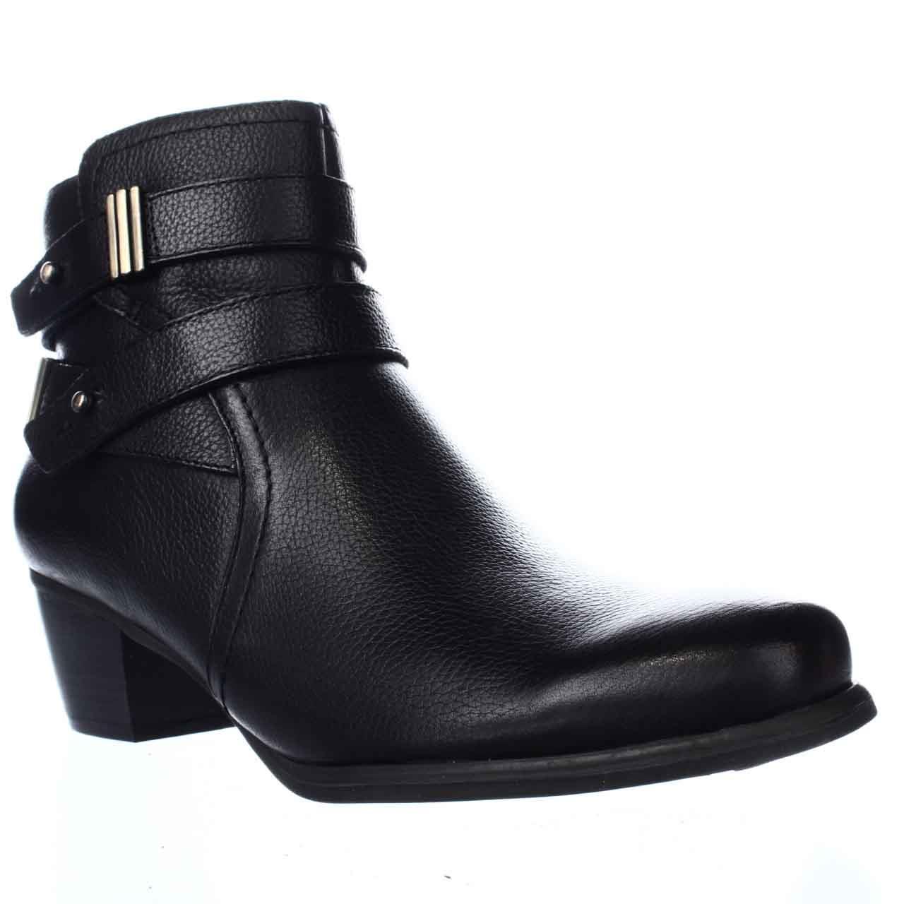 Womens Naturalizer Kepler Block Heel Ankle Boots, Black by Naturalizer