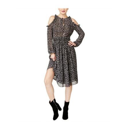 Michael Kors Womens Printed A-line Dress black M - image 1 de 1