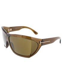 3411b64cb2 Tom Ford FT0402 S 48E SEDGEWICK Shiny Brown Oversized Wrap sunglasses