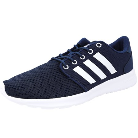 Adidas Women's Cloudfoam Qt Racer Mystery Blue / Ftw White Glow Orange Ankle-High Running Shoe - 10M ()