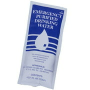 SOS Emergency Water Pouches Survival Kits for Disaster Supplies, 5 Year Shelf Life - Case of 48