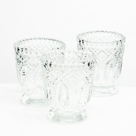 - Richland Votive Holder Textured Glass With Base Set of 48