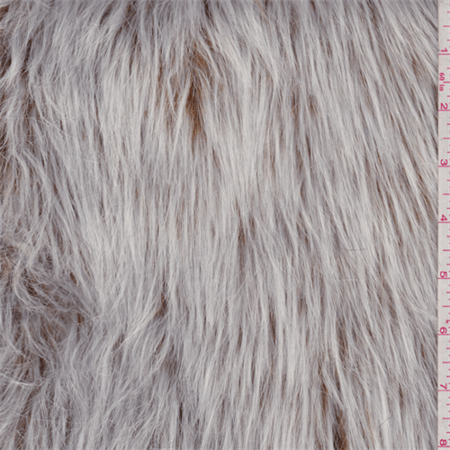 Camel/White Long Hair Faux Fur, Fabric Sold By the Yard ...
