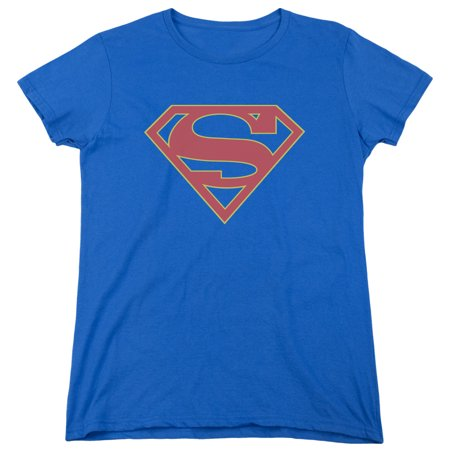 Supergirl Logo Womens Short Sleeve Shirt (Supergirl T Shirt For Women)