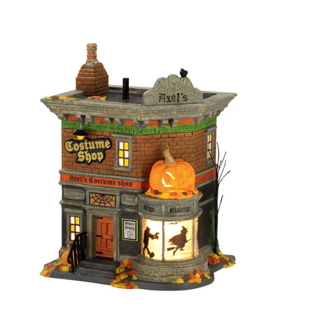Department 56 Halloween Village Axel's Costume Shop Retired 4022811
