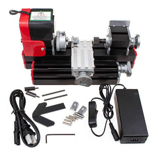 Mini Lathe Machine,12V Miniature Metal Multifunction Lathe Machine DIY 20000Rev/min 45*135mm