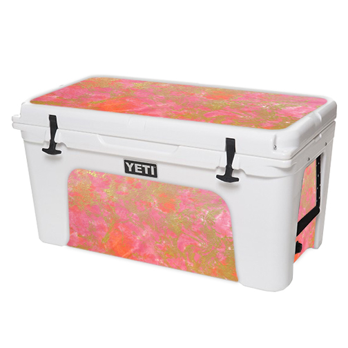 MightySkins Protective Vinyl Skin Decal for YETI Tundra 110 qt Cooler Lid wrap cover sticker skins Abstract Wood