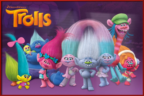 "Trolls Movie Poster   Print (Characters) (Size: 36"" x 24"") by"