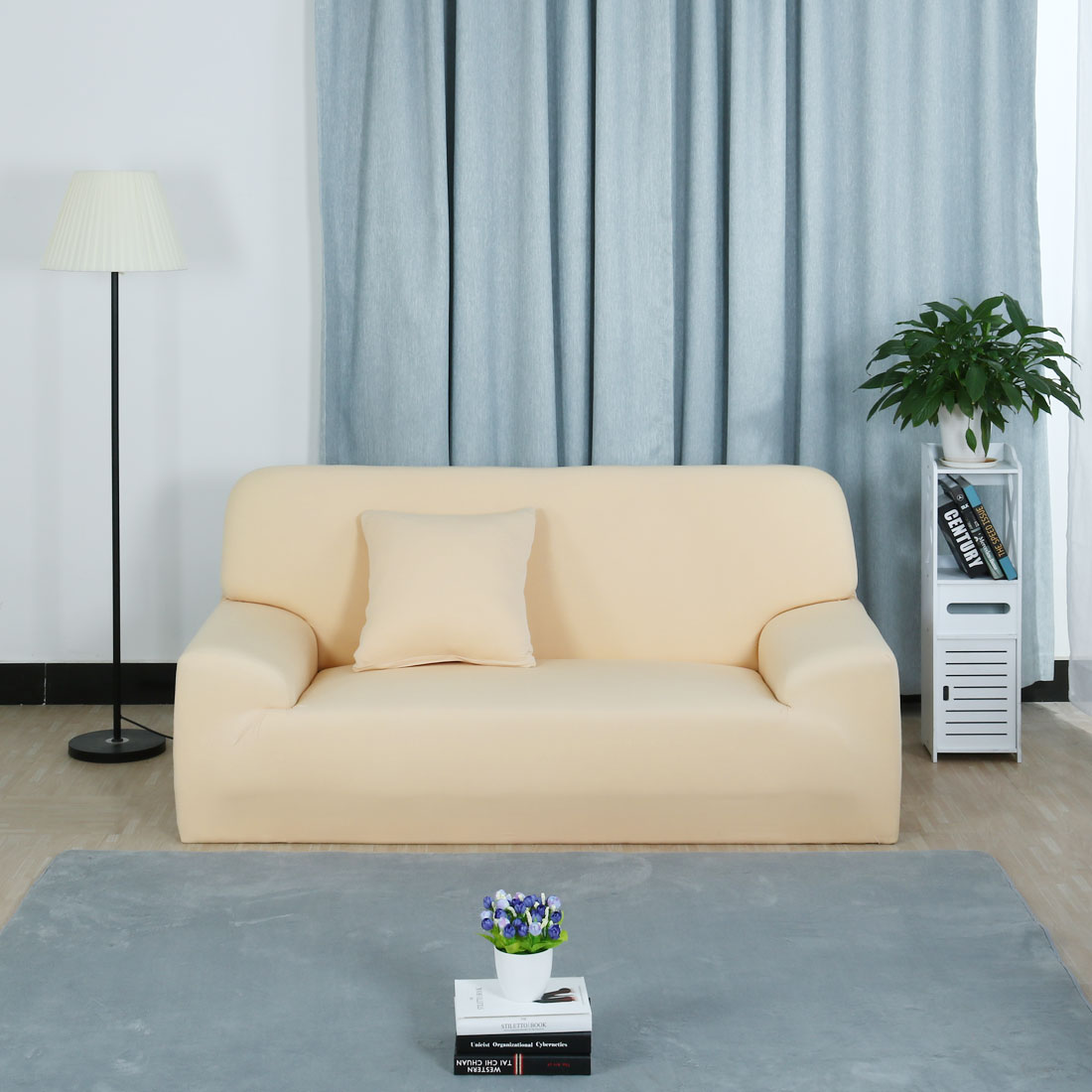Stretch Chair Sofa Covers Couch Slipcover Dark Blue Sofa-4seater