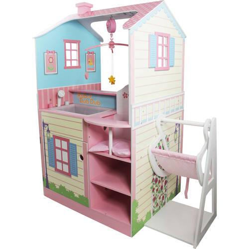 Olivia's Little World - Olivia's Classic Doll Changing Station Dollhouse- Pink