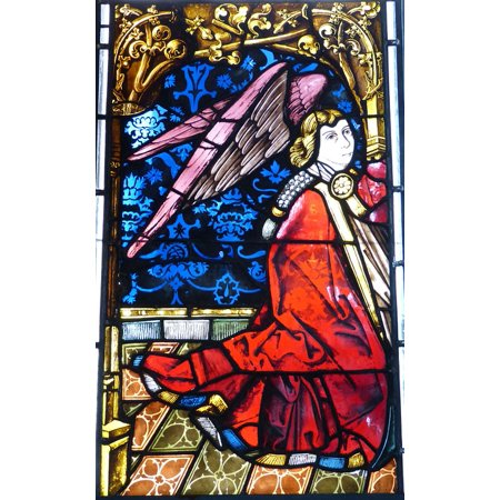 L N Stick Poster Of Window Church Stained Gl 24x16 Adhesive