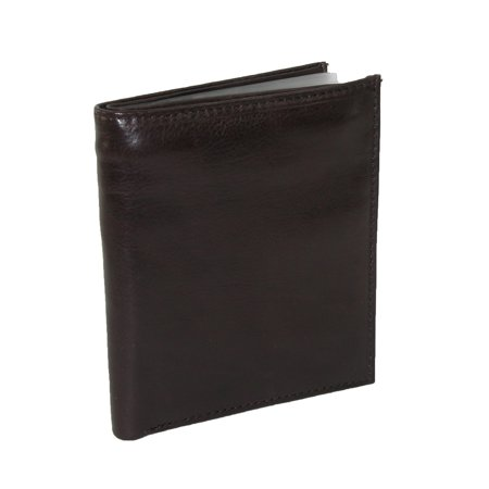 Nappa Leather Hipster Wallet (Size one size Men's Leather Deluxe Hipster Bifold)