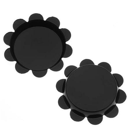 New Black Flower Bottle Caps Craft Scrapbook Jewelry No Liners 25mm (24)