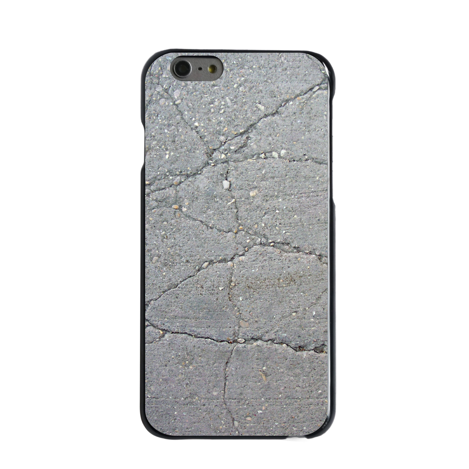 "CUSTOM Black Hard Plastic Snap-On Case for Apple iPhone 7 PLUS / 8 PLUS (5.5"" Screen) - Grey Cracked Concrete"
