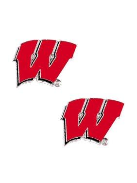 NCAA Wisconsin Badgers Sports Team Logo Post Stud Earring Set