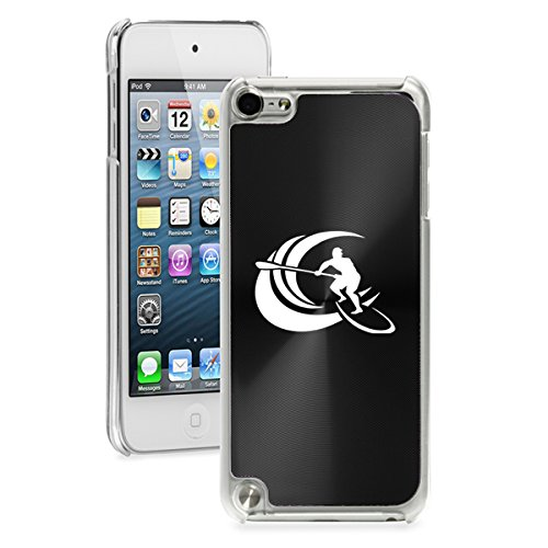 For Apple iPod Touch 5th / 6th Generation Hard Back Case Cover Stand Up Paddle Board Surf (Black)