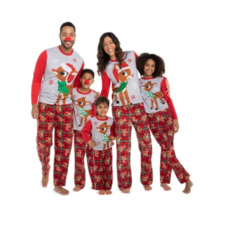 Rudolph Red Nosed Reindeer Christmas Holiday Family Baby Pajamas 21RD033ELL - Adams Family Baby