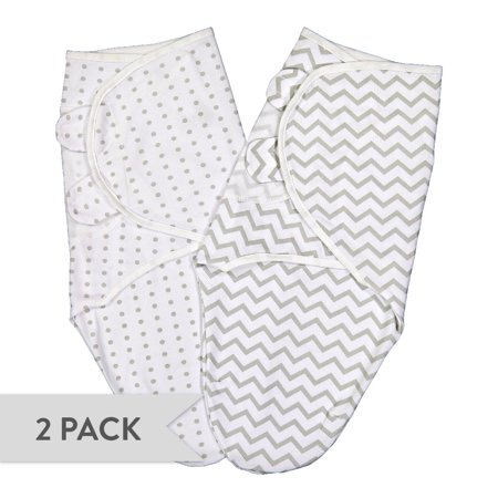 Swaddleez - Swaddle Blanket, Adjustable Baby Wrap 2 Pack Grey Chevron and Polka Dots 0-3 Months](0-3 Month Halloween Costumes)