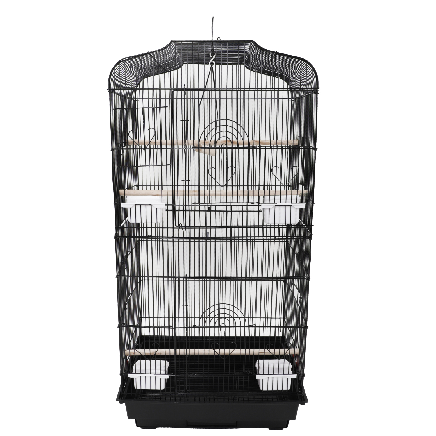 "Ktaxon 37"" Large Bird Cage w  Wood Perches & Food Cups Black by"