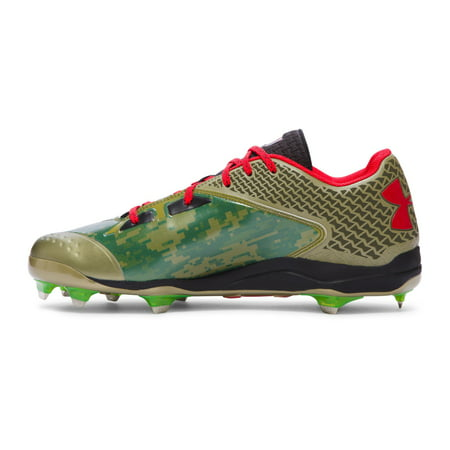 4dff8a5d0ae NEW Mens Under Armour Deception Low DT Baseball Cleats Dune Black Red Sz 16  M - Walmart.com