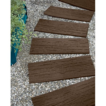 Faux Stepping Stones - Recycled Rubber Railroad Tie Stepping Stone