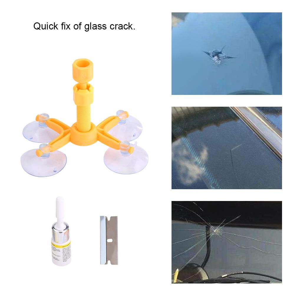 WALFRONT Car Auto Windshield Repair Kit Glass Crack Resin Sealer Windscreen Restore Fix Set Four-angle, Crack Windscreen Restore,Windshield Repair Kit