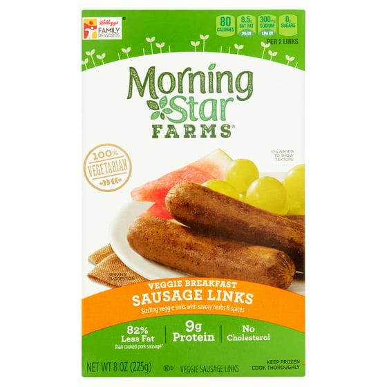 Morning Star Farms Veggie Breakfast Sausage Links 8 Oz Walmart