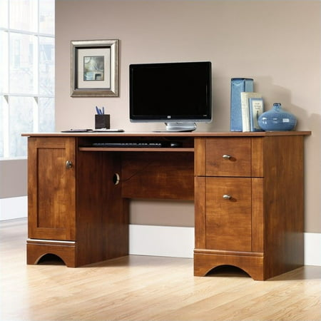 Kingfisher Lane Computer Desk in Brushed Maple (Maple Lace)