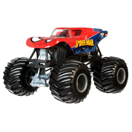 hot wheels monster jam spider man vehicle. Black Bedroom Furniture Sets. Home Design Ideas